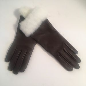 Fownes Bros touchpoint leather gloves